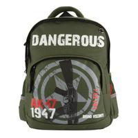 """Рюкзак с эргономичной спинкой """"Милитари 7,62 мм"""", цвет темно-зеленый"""