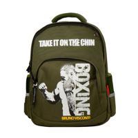 """Рюкзак с эргономичной спинкой """"Бокс"""", цвет темно-зеленый"""