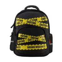 """Рюкзак с эргономичной спинкой """"Будь осторожен"""", цвет черный"""