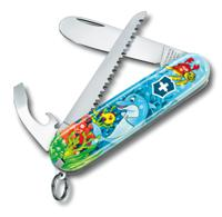"""Набор для детей """"Victorinox. Дельфин"""": перочинный нож 84 мм, шнурок на шею, книга-раскраска"""