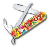 """Набор для детей """"Victorinox. Попугай"""": перочинный нож 84 мм, шнурок на шею, книга-раскраска"""