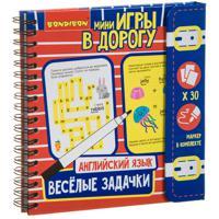 """Компактные развивающие игры в дорогу """"Веселые задачки. Английский язык"""""""