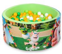 """Сухой игровой бассейн """"Booba. Пиратский гольф"""", высота 40 см, 200 шариков (салатовый, желтый, зеленый, белый)"""