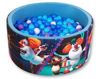 """Сухой игровой бассейн """"Booba. Приключения в цирке Деним"""", высота 40 см, 200 шариков (лавандовый, фиолетовый, голубой, синий)"""