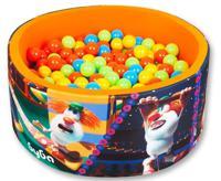"""Сухой игровой бассейн """"Booba. Яркие выступления в цирке"""", высота 40 см, 200 шариков (желтый, оранжевый, голубой, салатовый)"""
