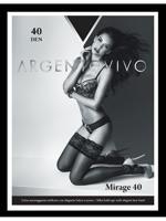 """Чулки Argentovivo """"Mirage 40 Aut"""", 40 den, цвет: nero, размер 3"""
