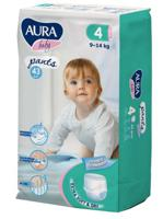 """Трусики одноразовые для детей """"Aura. Baby"""", 4/L 9-14 кг, 43 штуки"""