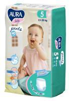 """Трусики одноразовые для детей """"Aura. Baby"""", 5/XL 13-20 кг, 40 штук"""