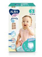 """Трусики одноразовые для детей """"Aura. Baby"""", 5/XL 13-20 кг, 13 штук"""