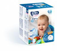 """Подгузники одноразовые для детей """"Aura. Baby"""", 3/M 4-9 кг, 14 штук"""