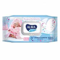 """Влажные салфетки для детей """"Аура. Ultra Comfort"""", 100 штук"""