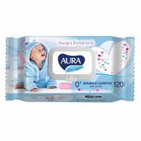 """Влажные салфетки для детей """"Аура. Ultra Comfort"""", 120 штук"""