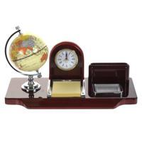 Настольный набор (часы, глобус, держатель для визиток, блокнот)