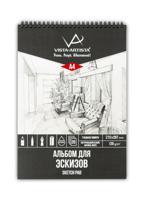"""Альбом для эскизов на спирали """"Vista-Artista"""", формат А4, 20 листов, арт. DSN-A4"""