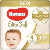Подгузники Huggies Elite Soft (4), 8-14 кг, 132 штуки