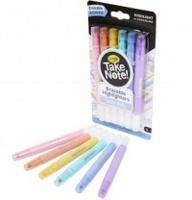 6 стираемых фломастеров пастельных цветов Take Note
