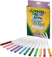 12 смываемых фломастеров пастельных цветов Super Tips