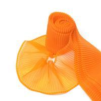 Лента капроновая гофрированная, 85 мм x 1 м, арт. с72 г17 (цвет: 06 оранжевый) (количество товаров в комплекте: 10)