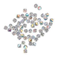 """Бусины """"Биконус. Crystal AB"""", 5,7x6 мм, 60 штук, арт. 451-69-302"""