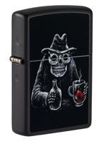 "Зажигалка ""Zippo. Bar Skull Design"", матовая, 36x12x56 мм"