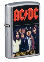 "Зажигалка ""Zippo. AC/DC"", матовая, 36x12x56 мм"