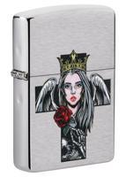 """Зажигалка """"Zippo. Queen & Skull"""", 36x12x56 мм"""