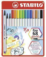 """Фломастеры-кисти """"Pen 68 Brush"""", 15 цветов"""