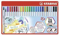 """Фломастеры-кисти """"Pen 68 Brush"""", 25 цветов"""
