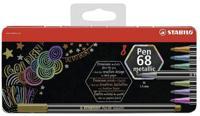 """Фломастеры """"Stabilo Pen 68. Metallic"""", 8 цветов"""