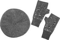 """Комплект: шапка и перчатки """"Модные истории"""", артикул 4/0075"""
