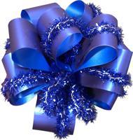Подарочный бант с декоративной лентой, 7 см