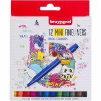 """Набор мини-линеров Bruynzeel """"Fineliners"""", 12 цветов"""