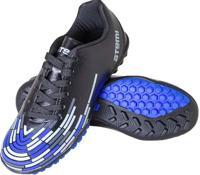 Бутсы футбольные Atemi SD400 TURF, размер 42 (черный/синий/серый)