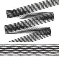 """Резинка декоративная """"TBY"""", 2 см, 25 м, цвет: черный, арт. ET20.122001"""