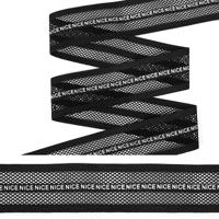 """Резинка декоративная """"TBY"""", 4 см, 25 м, цвет: черный, арт. ET20.074002"""