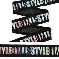 """Резинка декоративная """"TBY"""", 4 см, 25 м, цвет: черный, арт. ET20.084002"""