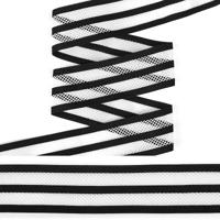 "Резинка декоративная ""TBY"", 4 см, 25 м, цвет: белый, арт. ET20.054001"