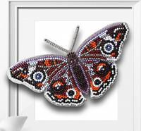 """Набор для вышивки бисером 3D """"Бабочка Прецис Лавиния"""", 14х8,5 см, арт. Б-003"""