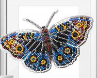 """Набор для вышивки бисером 3D """"Бабочка Юнония Орития"""", 14х8,5 см, арт. Б-005"""