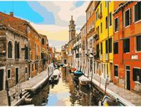 """Раскраска по номерам на картоне """"Пейзаж Венеции"""", формат А3"""