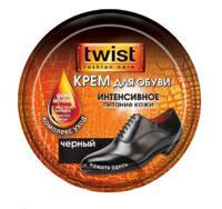 Крем для обуви Twist Fashion, банка (чёрный), 50 мл