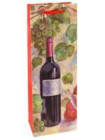 """Пакет подарочный """"Натюрморт с вином"""", 12x36x8,5 см"""