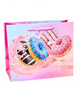 """Пакет подарочный """"Пончики в яркой глазури"""", 42х52х16 см"""