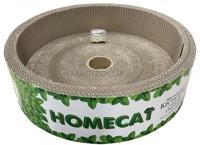 """Когтеточка с кошачьей мятой Homecat """"Мятная"""", круглая, с бортами (гофрокартон), 36х10 см"""