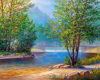 """Картина по номерам """"Река в лесу"""", 40х50 см"""