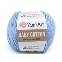 """Пряжа YarnArt """"Baby Cotton"""", 50 грамм, 165 м, цвет: 448 светло-голубой, 10 мотков (количество товаров в комплекте: 10)"""