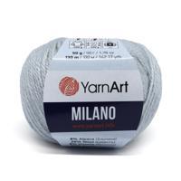 """Пряжа YarnArt """"Milano"""", 50 грамм, 130 метров, цвет: 866 светло-серый (10 мотков) (количество товаров в комплекте: 10)"""