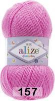 """Набор пряжи Alize """"Sekerim Bebe"""", 320 метров, 5 мотков по 100 грамм, цвет: 157 ярко-розовый (количество товаров в комплекте: 5)"""