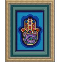 """Рисунок на ткани для вышивания бисером """"Хамса"""", 29х39 см, арт. 9682"""
