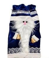 """Рюкзак для подарков """"Дед Мороз"""", 22х39 см (синий)"""